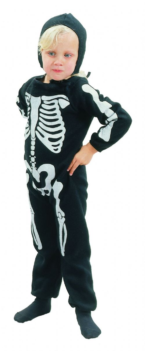 Childs Skeleton Boy Costume Living Dead Halloween Fancy Dress Outfit